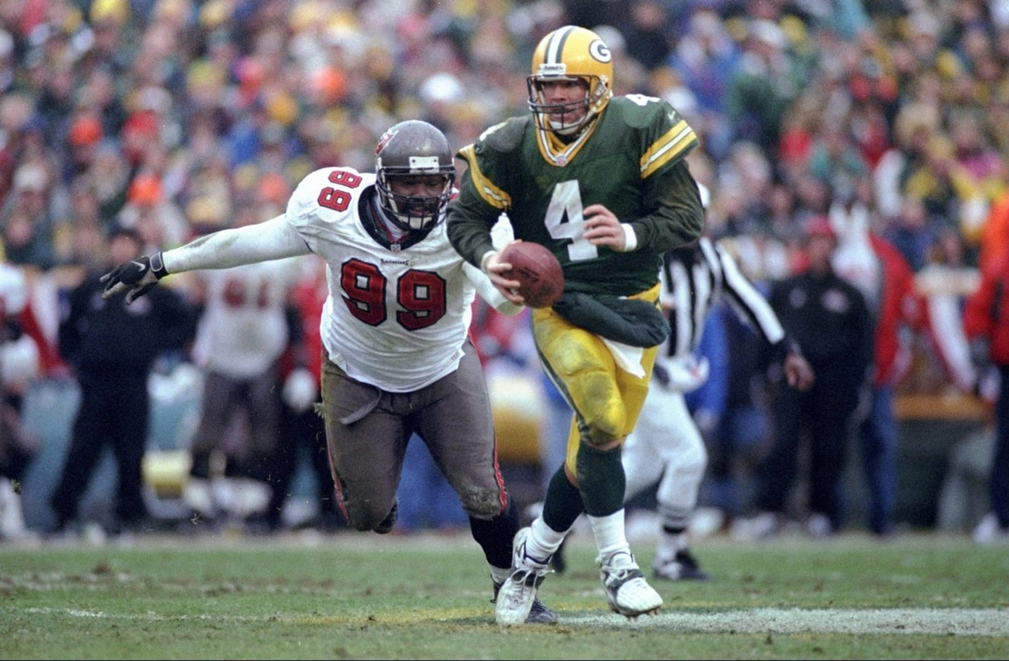 Brett Favre Warren Sapp Packers