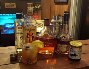 Eagles inspired cocktail fish house punch