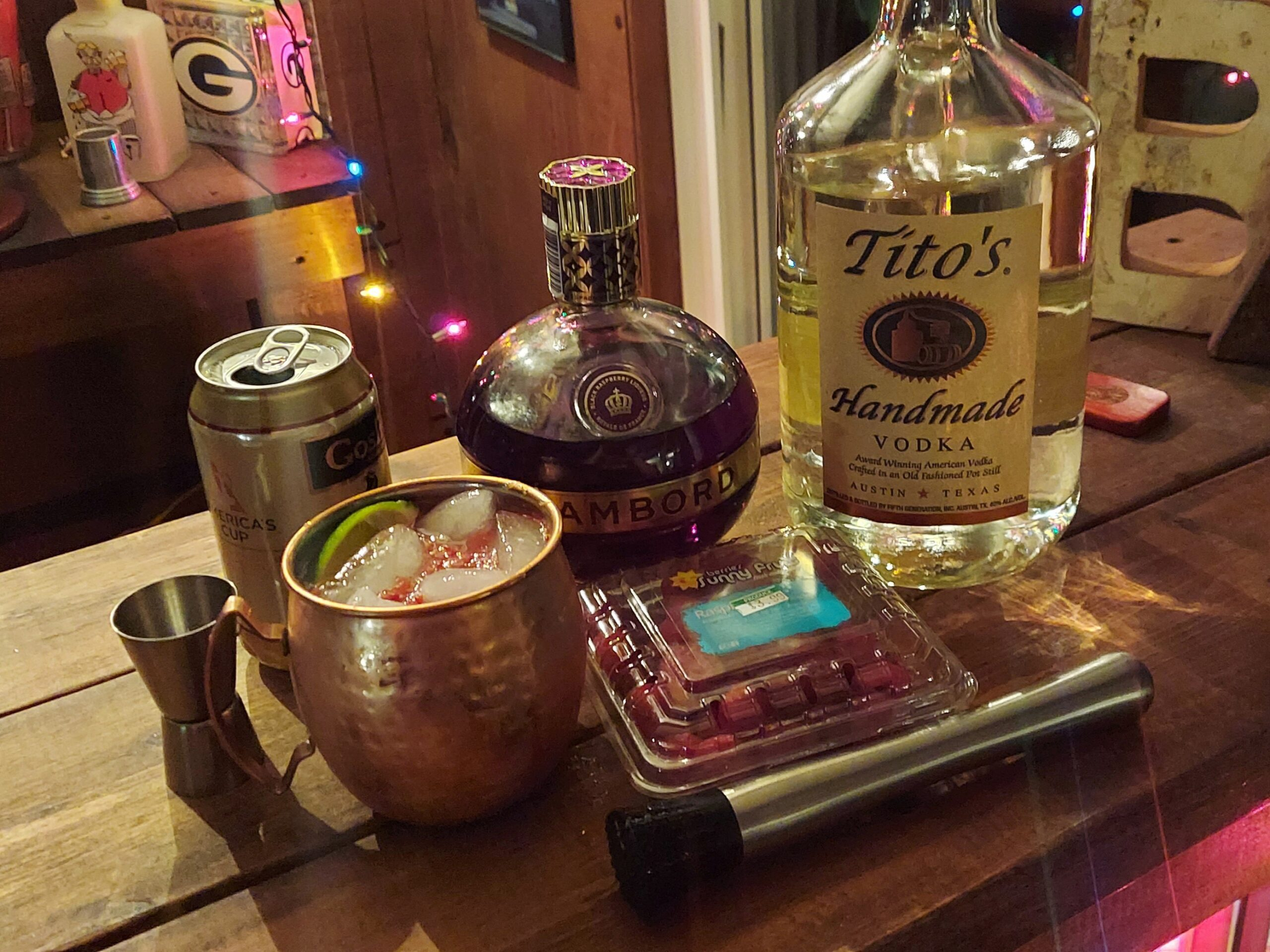 raspberry lime moscow mule